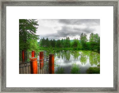 A Place By The Lake Framed Print by Nicola Nobile