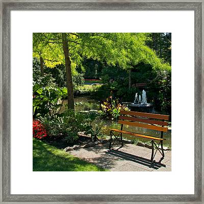 Framed Print featuring the photograph A Place For Contemplation by Trever Miller