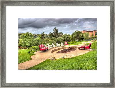 A Place For Friends Framed Print