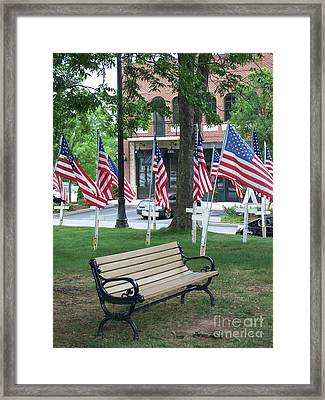 Framed Print featuring the photograph A Place For Refection by Marilyn Zalatan