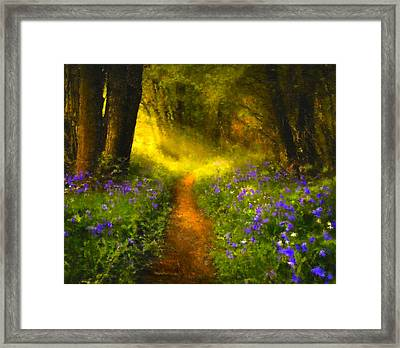 A Place In The Sun - Impressionism Framed Print by Georgiana Romanovna