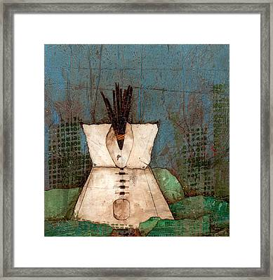 A Place Of Centering-home Framed Print by Laura  Lein-Svencner