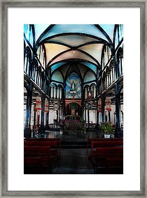 A Place Of Faith Framed Print by Kim Lagerhem
