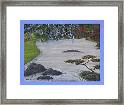 A Place Of Meditation Framed Print