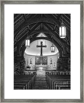A Place For Prayer Framed Print by Marcia Lee Jones