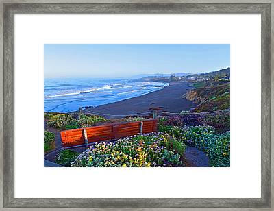A Place To Reflect Framed Print by Lynn Bauer
