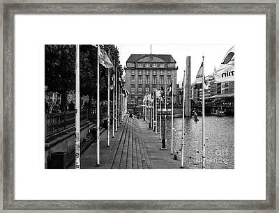 A Place To Rest In Hamburg Mono Framed Print