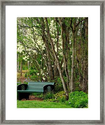 Framed Print featuring the photograph A Place To Sit by Rodney Lee Williams