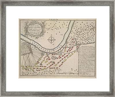 A Plan Of The Battle Of Plassey Framed Print