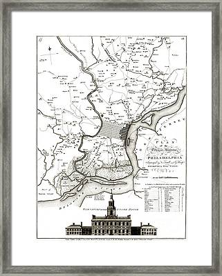 A Plan Of The City And Environs Of Philadelphia - 1777 Framed Print by Pablo Romero
