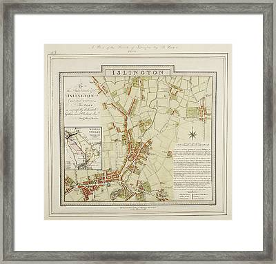 A Plan Of The Parish Of Islington Framed Print