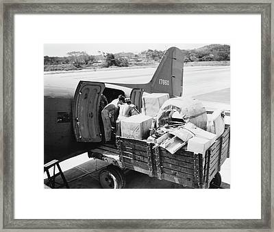 A Plane Of The United States Army Air Framed Print by Stocktrek Images