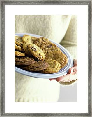A Plate Of Cookies Framed Print by Romulo Yanes