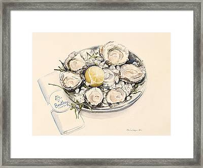 A Plate Of Oysters Framed Print by Alison Cooper
