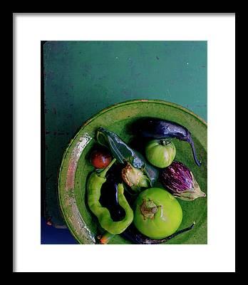 Eggplants Framed Prints