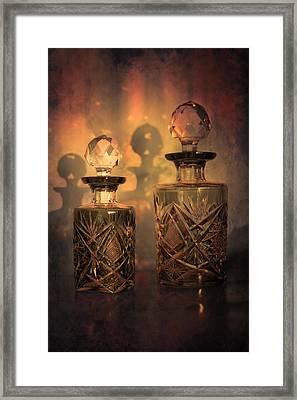 A Play Of Light At Dusk Framed Print