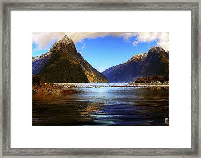 A Pleasant Stay At The Park Framed Print by Mario Carini