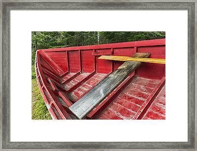 A _pointer_ Row Boat Designed Framed Print