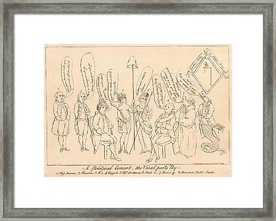 A Political Concert The Vocal Parts By 1. Miss America Framed Print by Litz Collection