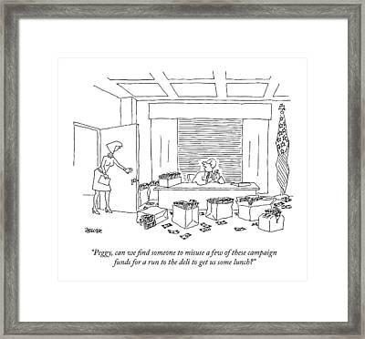 A Politician Framed Print
