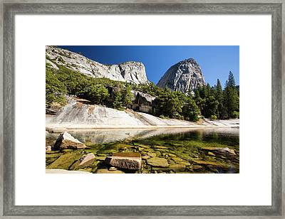 A Pool Above The Nevada Fall Framed Print by Ashley Cooper