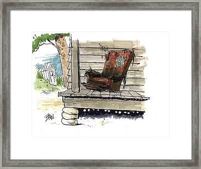 A Porch Collapse Would Kill More Than 3 Dogs Framed Print