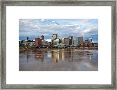 A Portland Morning Framed Print by Patricia Davidson