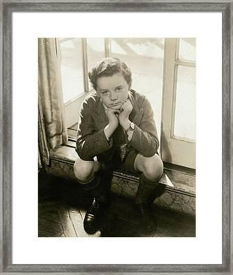 A Portrait Of Actor Freddie Bartholomew Framed Print by Lusha Nelson