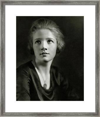 A Portrait Of Ann Harding Framed Print