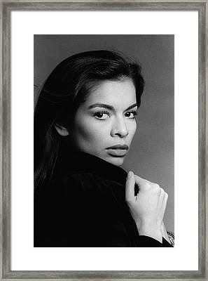 A Portrait Of Bianca Jagger Framed Print