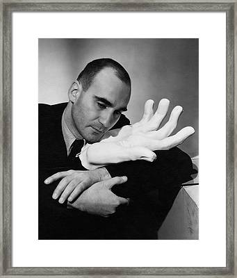 A Portrait Of Boris Kochno Hugging An Oversized Framed Print