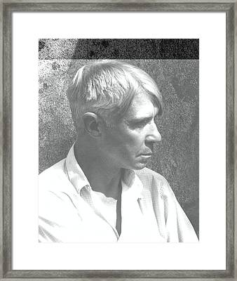 A Portrait Of Carl Sandburg Framed Print by Edward Steichen