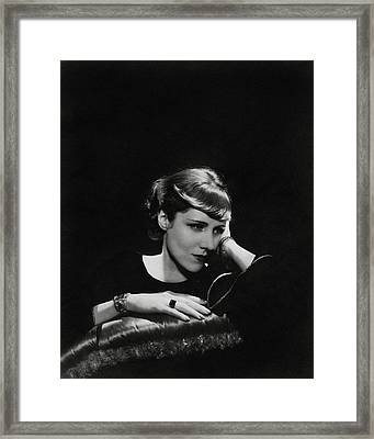 A Portrait Of Clare Boothe Luce Framed Print by Cecil Beaton