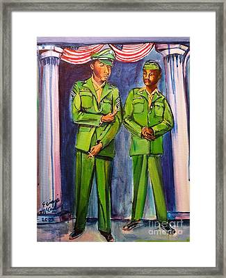 Daddy Soldier Framed Print by Ecinja Art Works