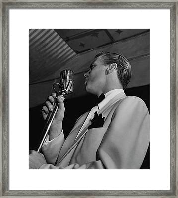 A Portrait Of Dick Haymes Framed Print
