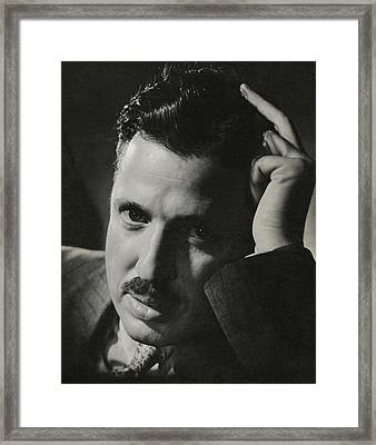 A Portrait Of Donald Deskey Framed Print by Anton Bruehl