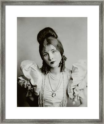 A Portrait Of Edythe Baker Framed Print by Florence Vandamm