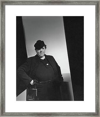 A Portrait Of Elsa Maxwell Framed Print by Horst P. Horst