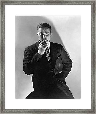 A Portrait Of Errol Flynn Framed Print by Edward Steichen