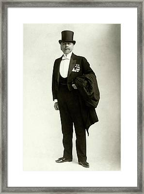 A Portrait Of Frederic Villiers In A Tuxedo Framed Print