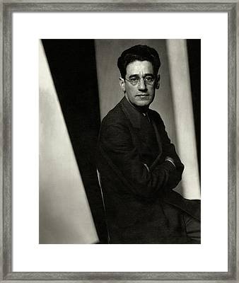 A Portrait Of George S. Kaufman Framed Print by Edward Steichen