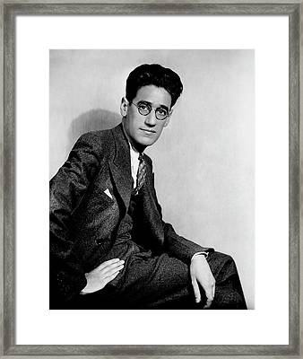 A Portrait Of George S. Kaufman Framed Print by Florence Vandamm