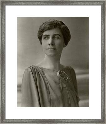 A Portrait Of Grace Coolidge Framed Print by Nickolas Muray