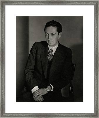 A Portrait Of Irving Grant Thalberg Framed Print by Edward Steichen