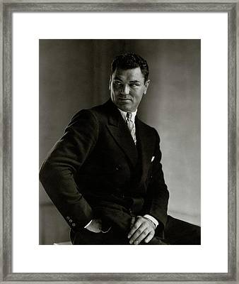 A Portrait Of Jack Dempsey Framed Print by Edward Steichen
