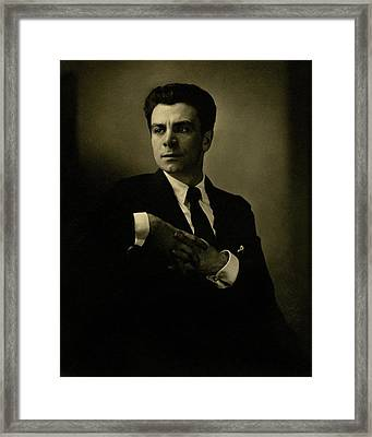 A Portrait Of Jacob Ben Ami Framed Print