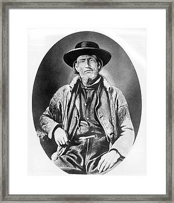 A Portrait Of Jim Bridger Framed Print by Underwood Archives