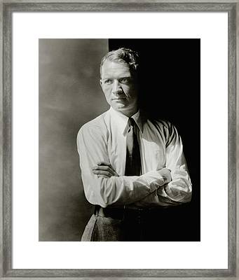 A Portrait Of John Held Jr Framed Print by  Barnaba