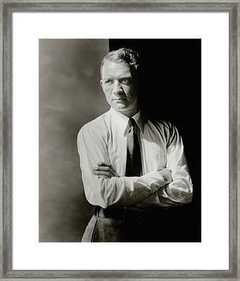 A Portrait Of John Held Jr Framed Print