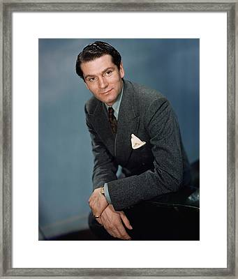 A Portrait Of Laurence Olivier Framed Print by Alexander Paal